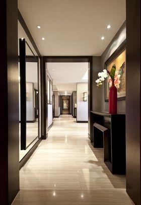 富裕型90平米三室两厅中式风格走廊欣赏图