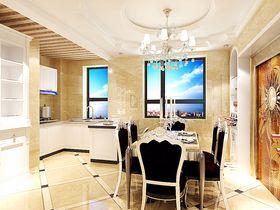 5-10万130平米三室两厅田园风格餐厅效果图