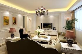 140平米別墅歐式風格客廳圖片