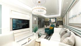 100平米三室两厅法式风格客厅欣赏图