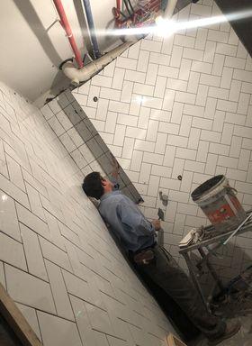 120平米三室一厅英伦风格卫生间装修效果图
