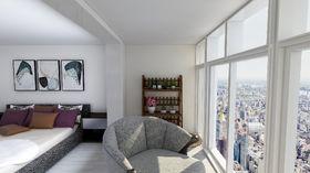 70平米复式混搭风格卧室图片