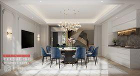 140平米別墅法式風格餐廳圖