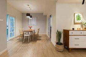 110平米三室一厅现代简约风格餐厅图片大全