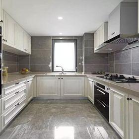 130平米三室两厅美式风格厨房图片