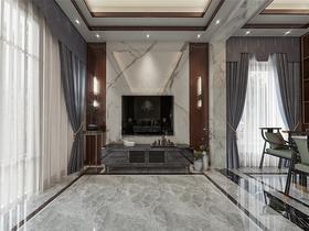 140平米別墅中式風格客廳設計圖