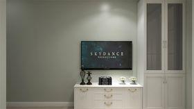 富裕型50平米一居室现代简约风格客厅图