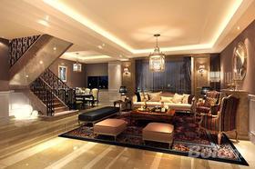 140平米別墅歐式風格客廳圖片大全