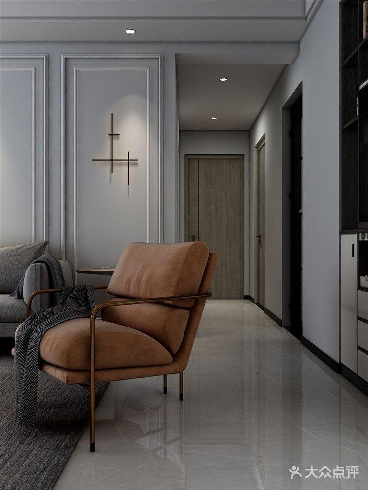 110平米三室两厅现代简约风格玄关装修效果图