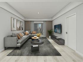120平米三室两厅现代简约风格客厅装修效果图