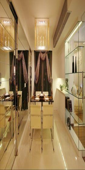 5-10万110平米公寓现代简约风格餐厅欣赏图