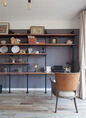 富裕型90平米三室两厅田园风格书房欣赏图