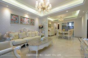 富裕型120平米三室一厅欧式风格客厅图片大全