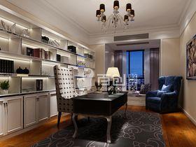 140平米三室两厅新古典风格书房效果图