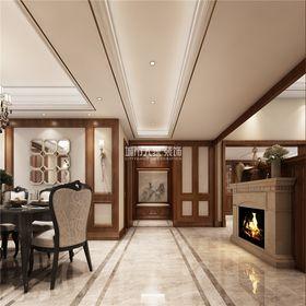 140平米三室两厅美式风格走廊装修效果图
