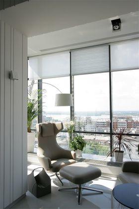 130平米三室两厅现代简约风格阳台图片大全