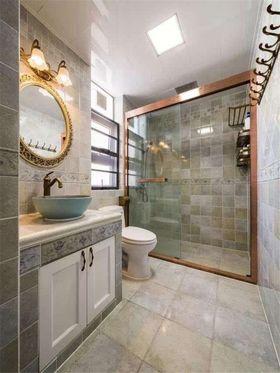 120平米三室一厅美式风格卫生间装修图片大全