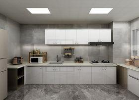 富裕型130平米三室一厅混搭风格厨房装修图片大全