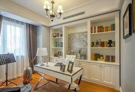 120平米三室一厅混搭风格书房设计图