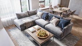 100平米三室兩廳現代簡約風格客廳裝修案例