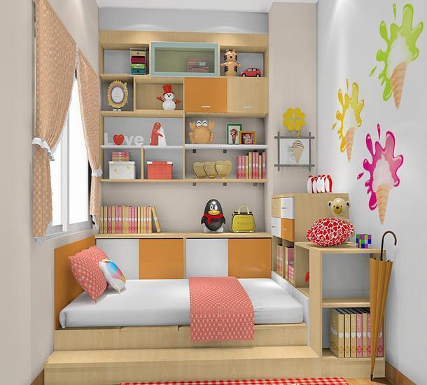 儿童房是孩子起居玩耍的主要空间,好的儿童房对于孩子养成良好的生活习惯,启迪智慧有着很重要的意义。下面小编为大家整理了榻榻米房间效果图之儿童房榻榻米装修效果图,希望大家喜欢。 儿童房榻榻米装修效果图一 如图所示,这是一款儿童主题房,整体以简约风为主,大大的增加了空间的使用度。