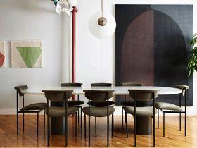 110平米三室两厅混搭风格餐厅效果图