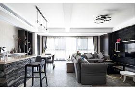 120平米三室两厅混搭风格客厅图片