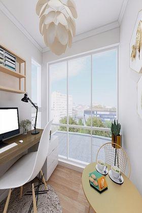 110平米三现代简约风格书房装修图片大全