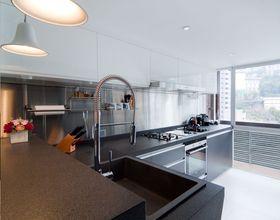 5-10万110平米三室两厅现代简约风格厨房欣赏图