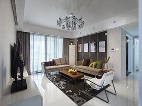 130平米三室两厅现代简约风格客厅欣赏图