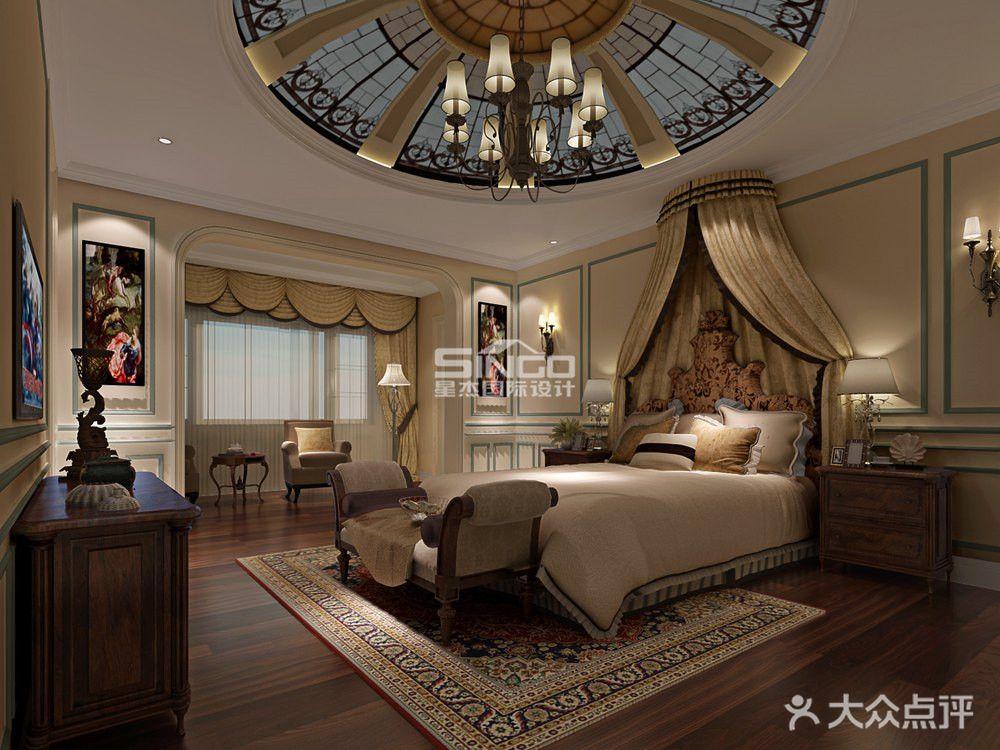 豪华型140平米别墅美式风格卧室欣赏图