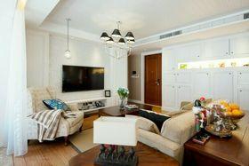 100平米三室两厅美式风格客厅装修效果图