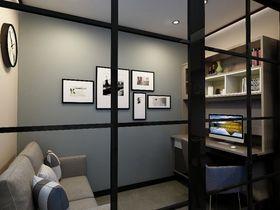 90平米三室一厅现代简约风格书房图