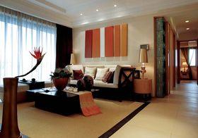 90平米公寓东南亚风格客厅装修效果图