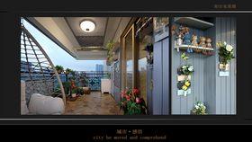 140平米四欧式风格阳台图片