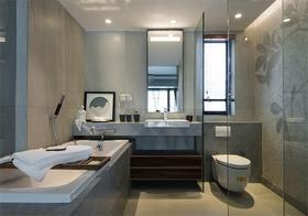 10-15万100平米三室两厅现代简约风格卫生间欣赏图