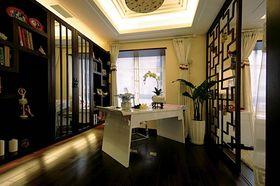 富裕型140平米三室两厅中式风格书房装修图片大全