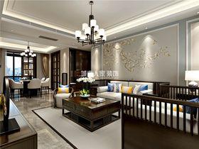 140平米四室兩廳中式風格客廳圖片大全