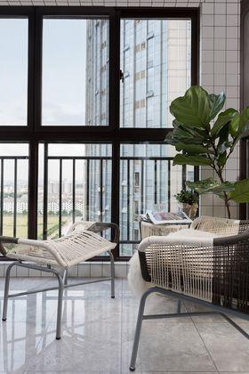 80平米现代简约风格阳台装修效果图