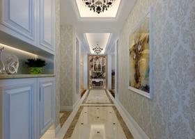 120平米三美式风格走廊装修效果图