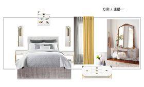 富裕型140平米三室两厅现代简约风格卧室图