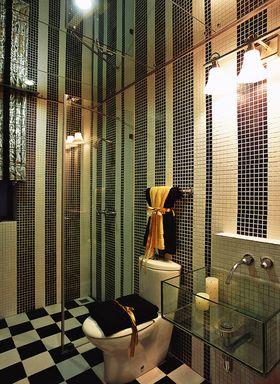 富裕型120平米三室两厅混搭风格卫生间图片大全