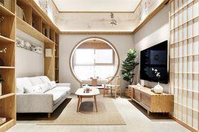 70平米日式風格客廳圖片