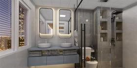 140平米三现代简约风格卫生间装修案例