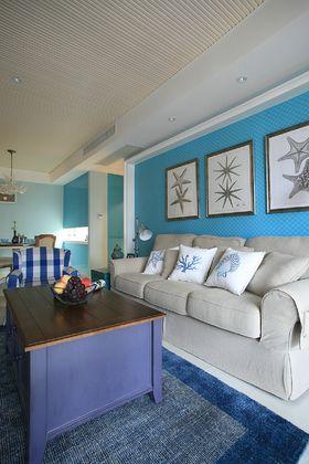 富裕型90平米三室两厅地中海风格客厅欣赏图