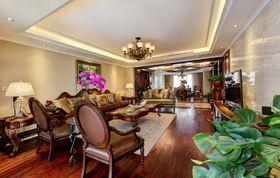 富裕型140平米三室两厅美式风格客厅装修效果图
