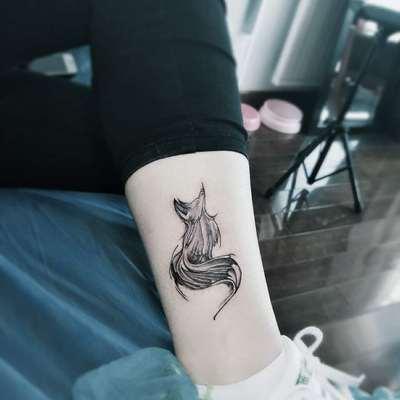 可爱小狐狸纹身款式图