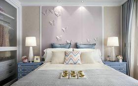 120平米三室两厅美式风格卧室背景墙装修图片大全