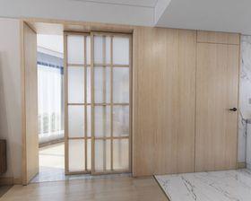 110平米三室两厅现代简约风格厨房设计图