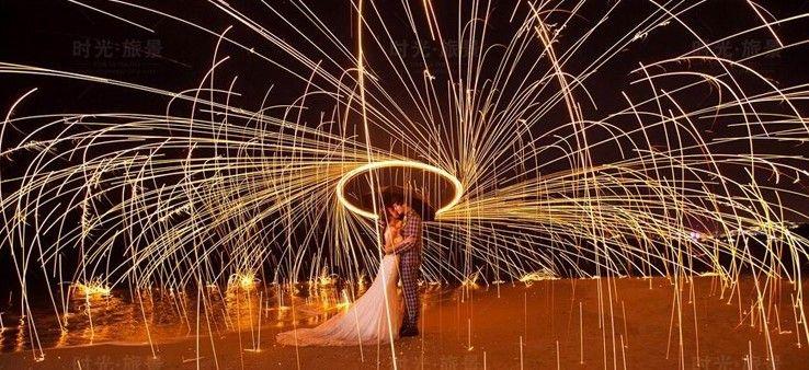 夜景婚纱照的拍摄技巧